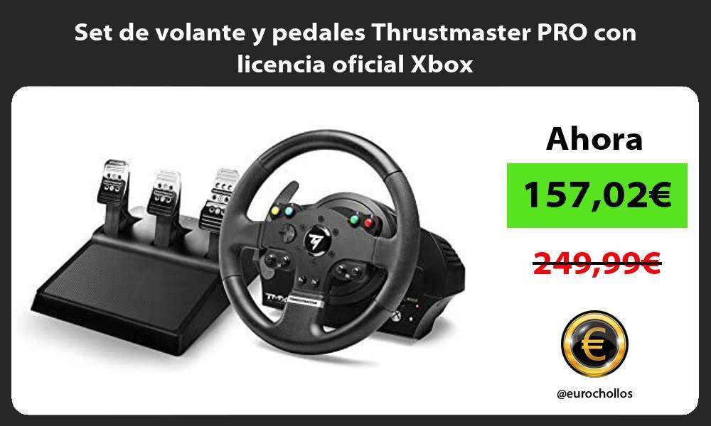 Set de volante y pedales Thrustmaster PRO con licencia oficial Xbox