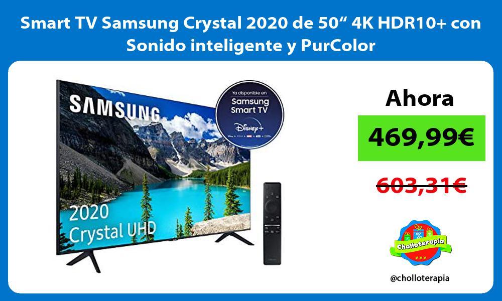 """Smart TV Samsung Crystal 2020 de 50"""" 4K HDR10 con Sonido inteligente y PurColor"""