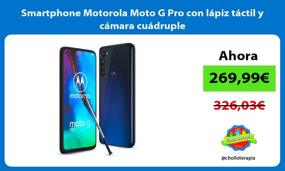 Smartphone Motorola Moto G Pro con lápiz táctil y cámara cuádruple