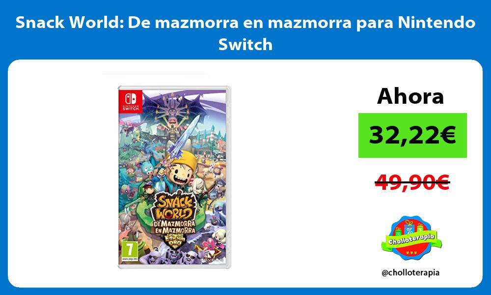 Snack World De mazmorra en mazmorra para Nintendo Switch