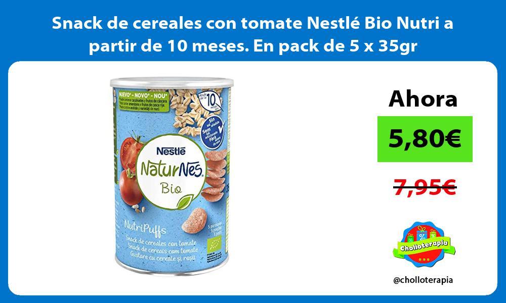 Snack de cereales con tomate Nestlé Bio Nutri a partir de 10 meses En pack de 5 x 35gr