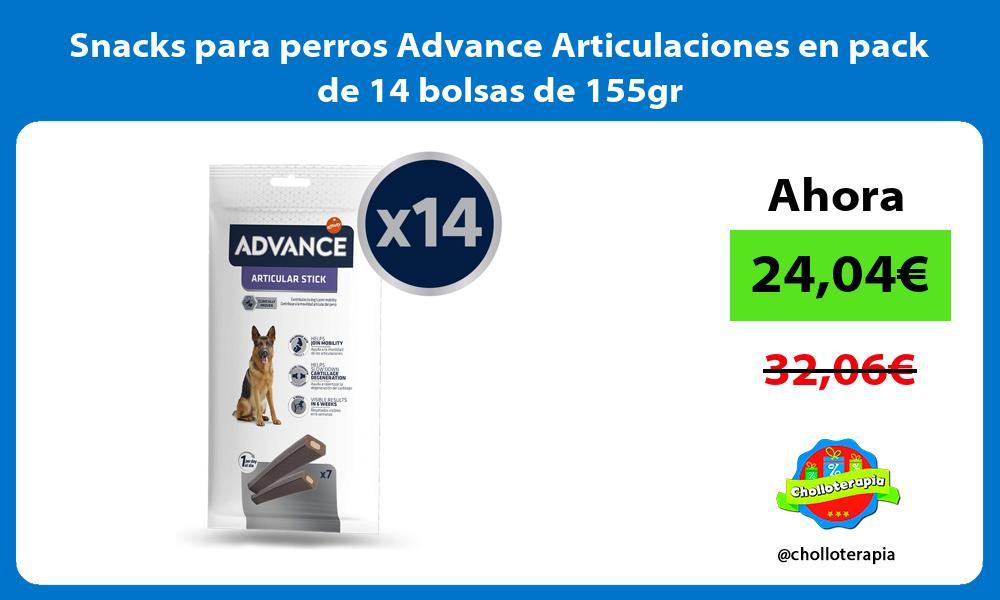 Snacks para perros Advance Articulaciones en pack de 14 bolsas de 155gr