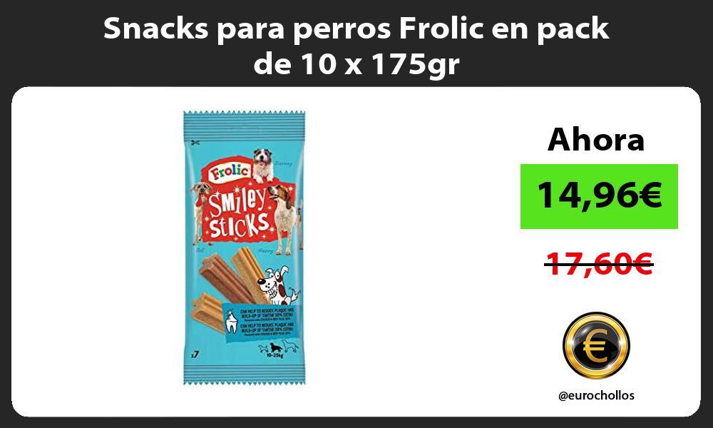 Snacks para perros Frolic en pack de 10 x 175gr