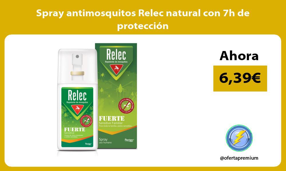 Spray antimosquitos Relec natural con 7h de protección