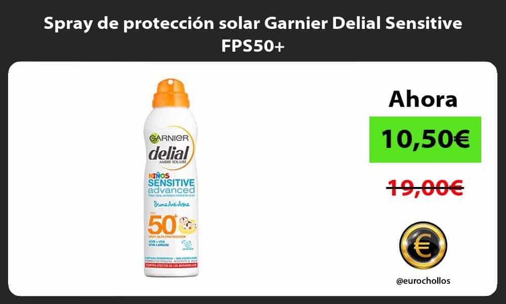 Spray de protección solar Garnier Delial Sensitive FPS50