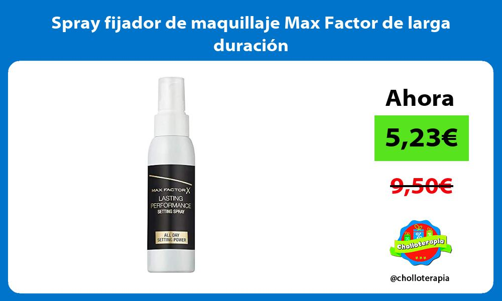 Spray fijador de maquillaje Max Factor de larga duración