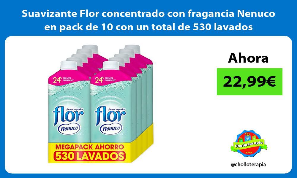 Suavizante Flor concentrado con fragancia Nenuco en pack de 10 con un total de 530 lavados