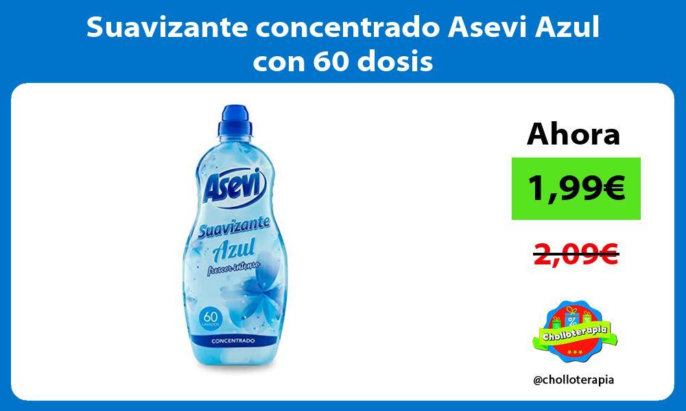 Suavizante concentrado Asevi Azul con 60 dosis