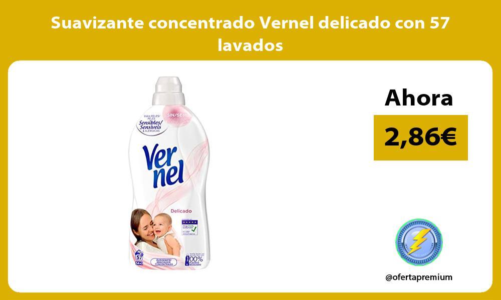 Suavizante concentrado Vernel delicado con 57 lavados