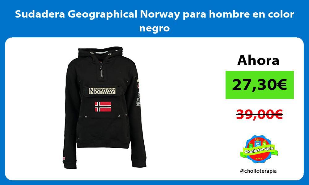Sudadera Geographical Norway para hombre en color negro