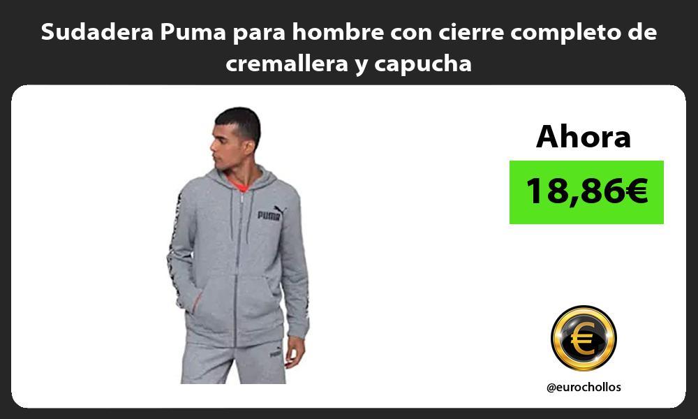 Sudadera Puma para hombre con cierre completo de cremallera y capucha