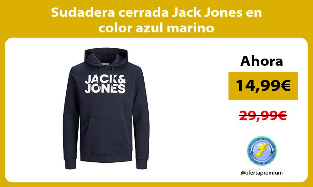 Sudadera cerrada Jack Jones en color azul marino