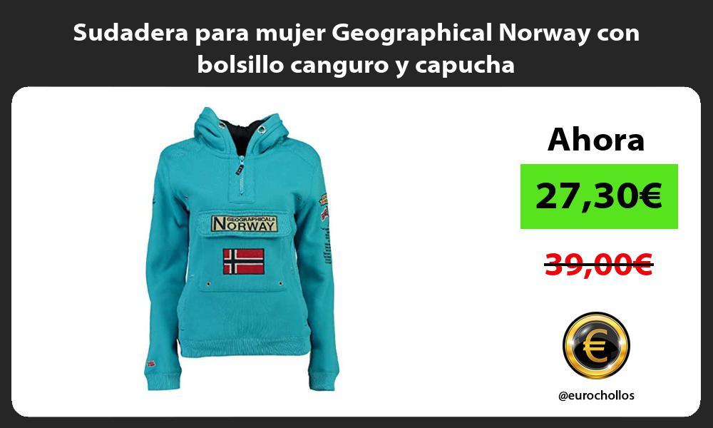 Sudadera para mujer Geographical Norway con bolsillo canguro y capucha