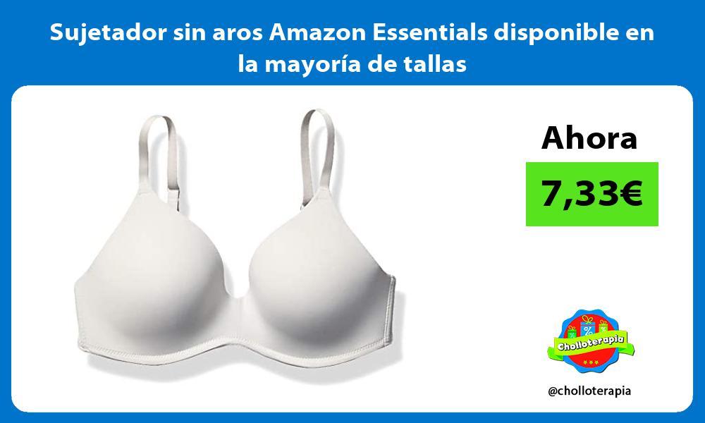 Sujetador sin aros Amazon Essentials disponible en la mayoría de tallas