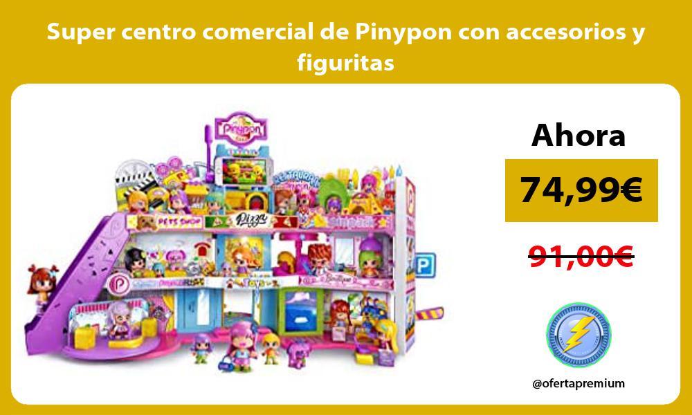 Super centro comercial de Pinypon con accesorios y figuritas