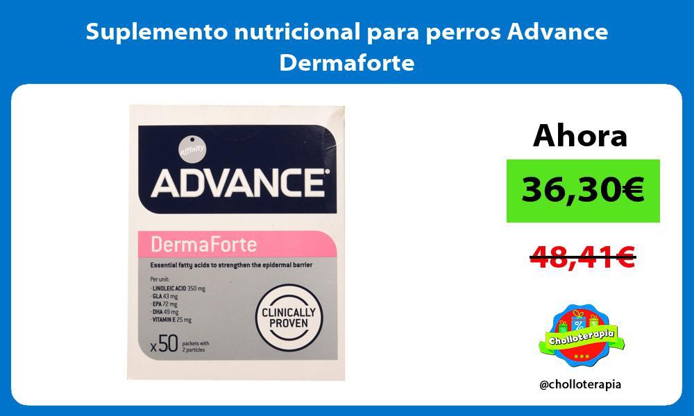 Suplemento nutricional para perros Advance Dermaforte