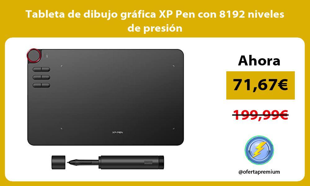 Tableta de dibujo gráfica XP Pen con 8192 niveles de presión
