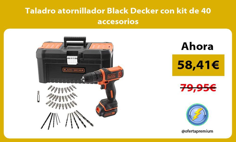 Taladro atornillador Black Decker con kit de 40 accesorios