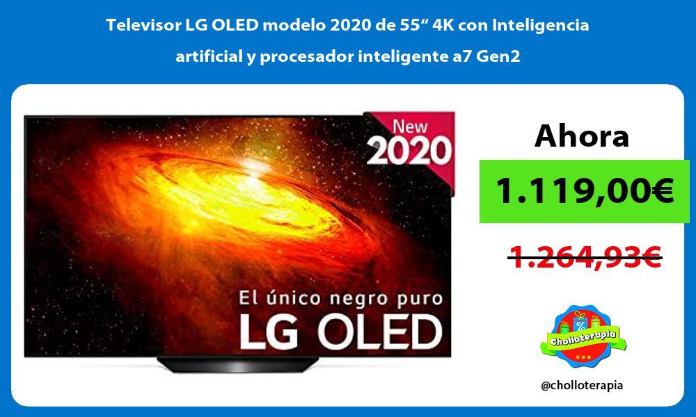 """Televisor LG OLED modelo 2020 de 55"""" 4K con Inteligencia artificial y procesador inteligente a7 Gen2"""