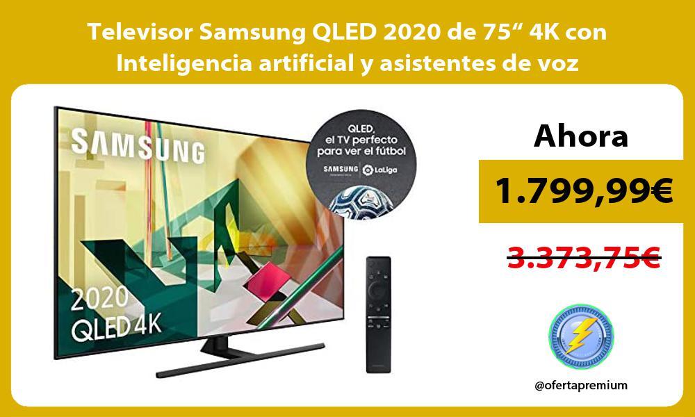 """Televisor Samsung QLED 2020 de 75"""" 4K con Inteligencia artificial y asistentes de voz integrados"""