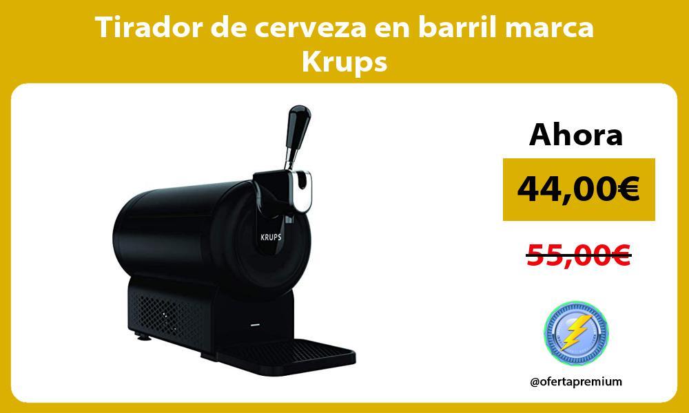 Tirador de cerveza en barril marca Krups
