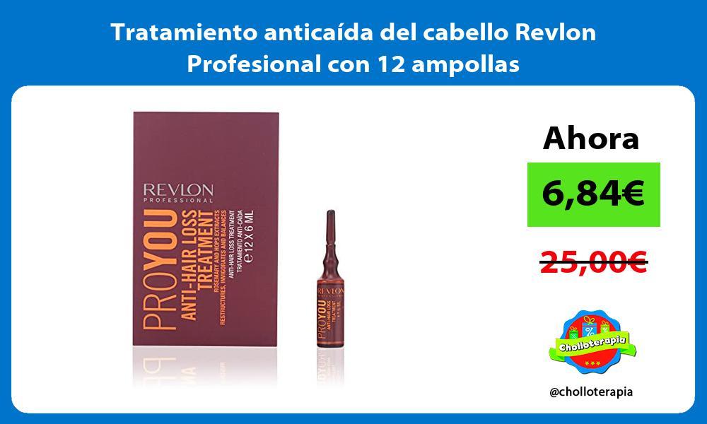 Tratamiento anticaída del cabello Revlon Profesional con 12 ampollas