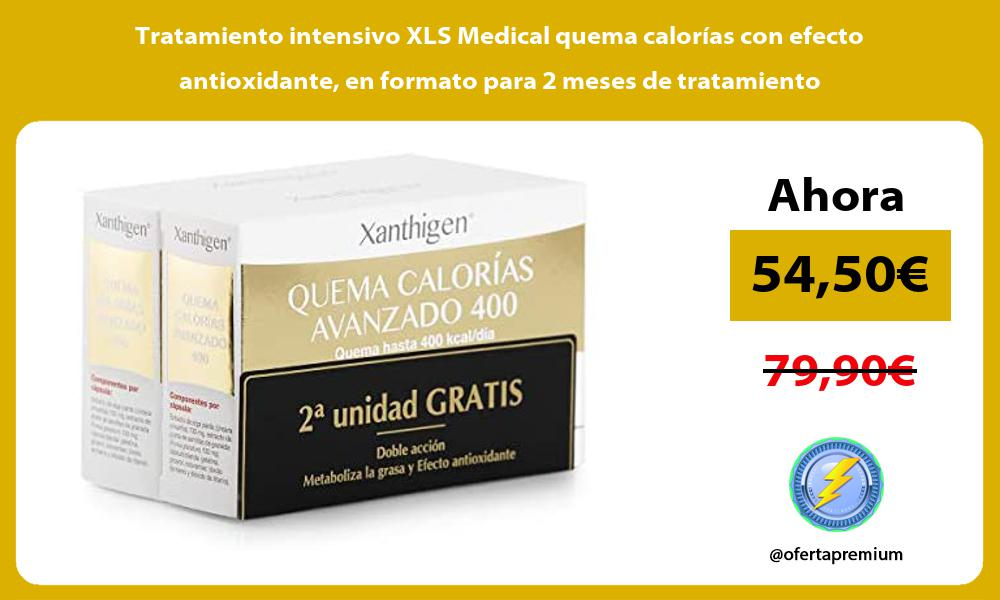 Tratamiento intensivo XLS Medical quema calorías con efecto antioxidante en formato para 2 meses de tratamiento