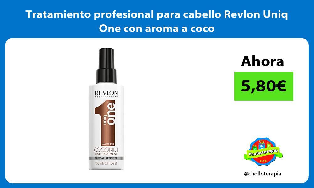 Tratamiento profesional para cabello Revlon Uniq One con aroma a coco