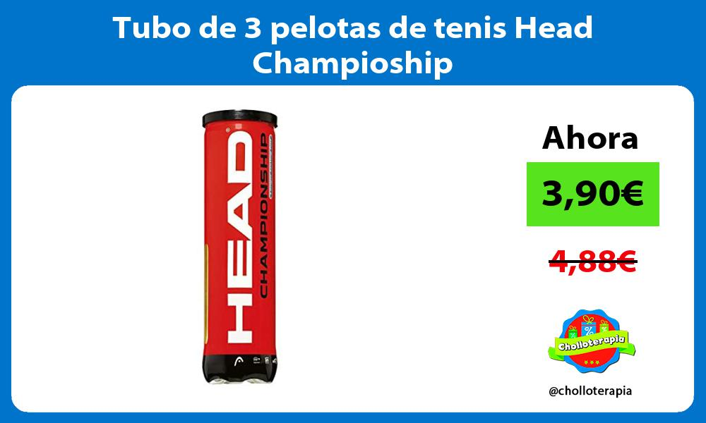 Tubo de 3 pelotas de tenis Head Champioship