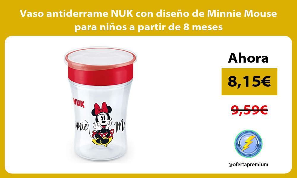 Vaso antiderrame NUK con diseño de Minnie Mouse para niños a partir de 8 meses