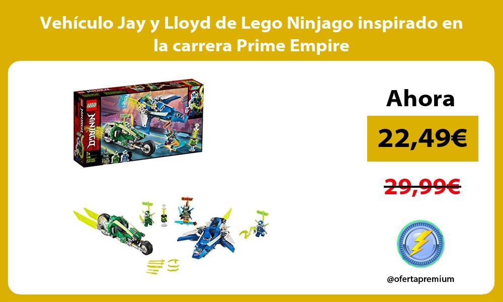 Vehículo Jay y Lloyd de Lego Ninjago inspirado en la carrera Prime Empire