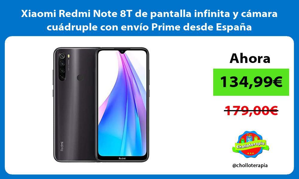 Xiaomi Redmi Note 8T de pantalla infinita y cámara cuádruple con envío Prime desde España