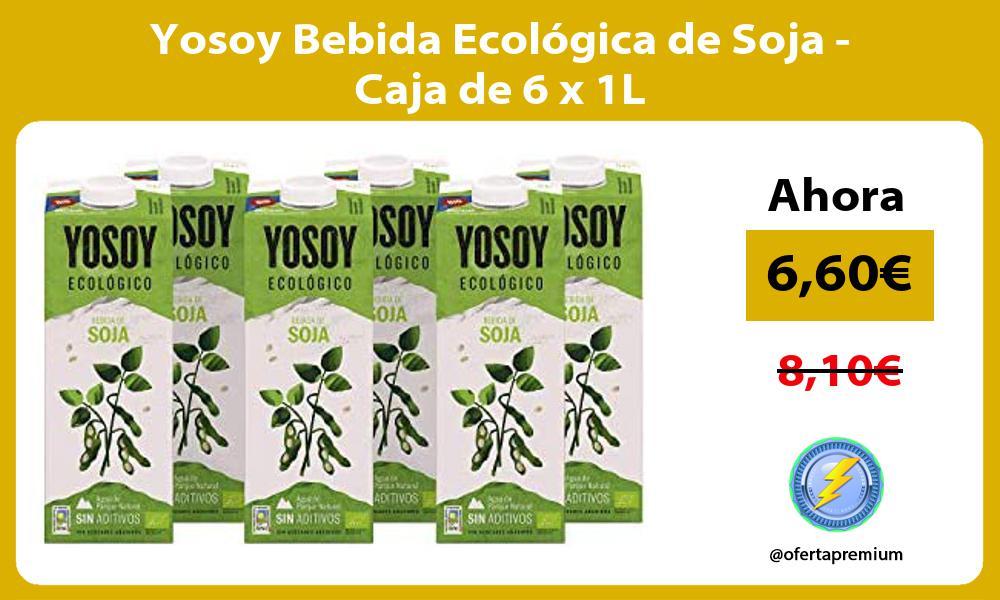 Yosoy Bebida Ecológica de Soja Caja de 6 x 1L