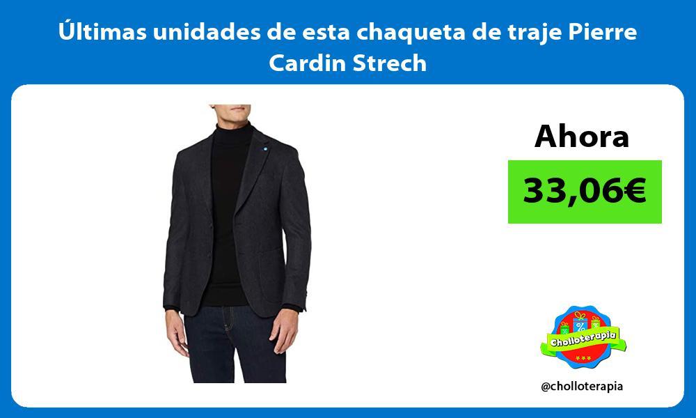 ltimas unidades de esta chaqueta de traje Pierre Cardin Strech