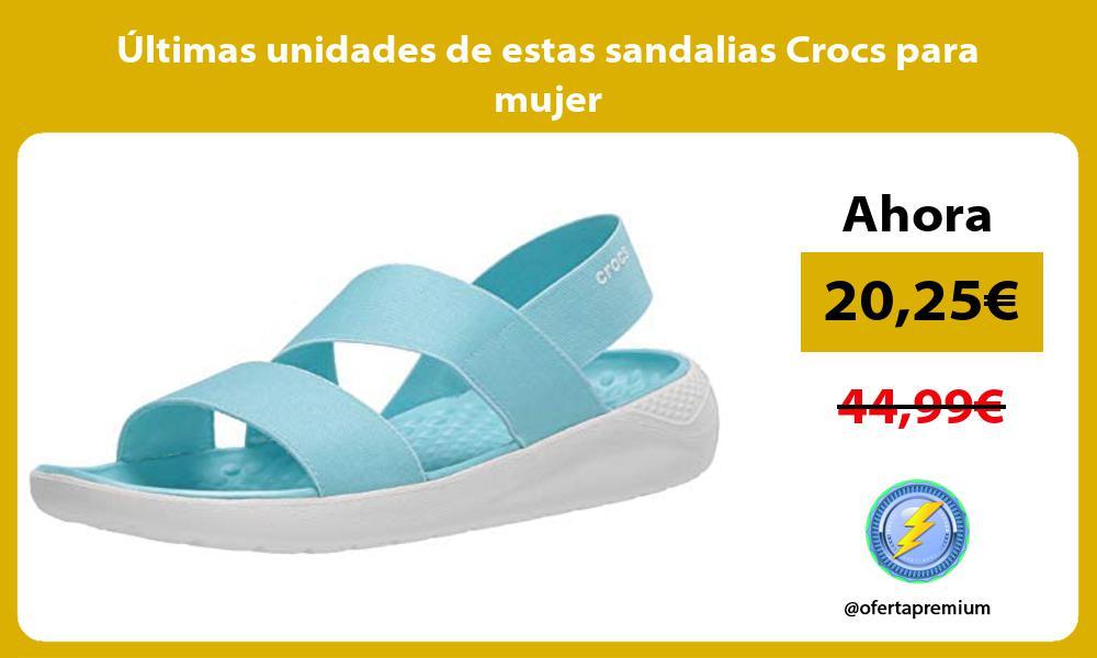 ltimas unidades de estas sandalias Crocs para mujer