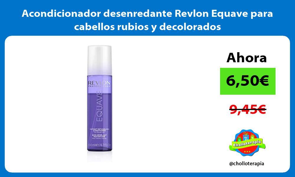 Acondicionador desenredante Revlon Equave para cabellos rubios y decolorados
