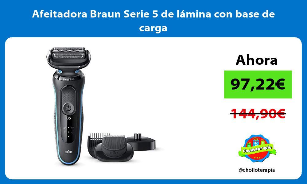 Afeitadora Braun Serie 5 de lámina con base de carga