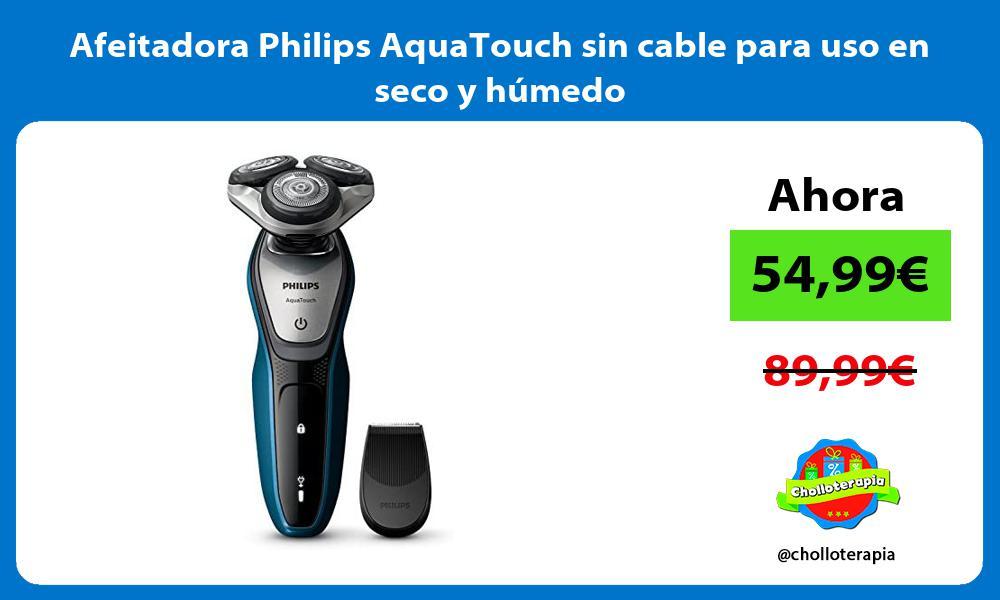 Afeitadora Philips AquaTouch sin cable para uso en seco y húmedo