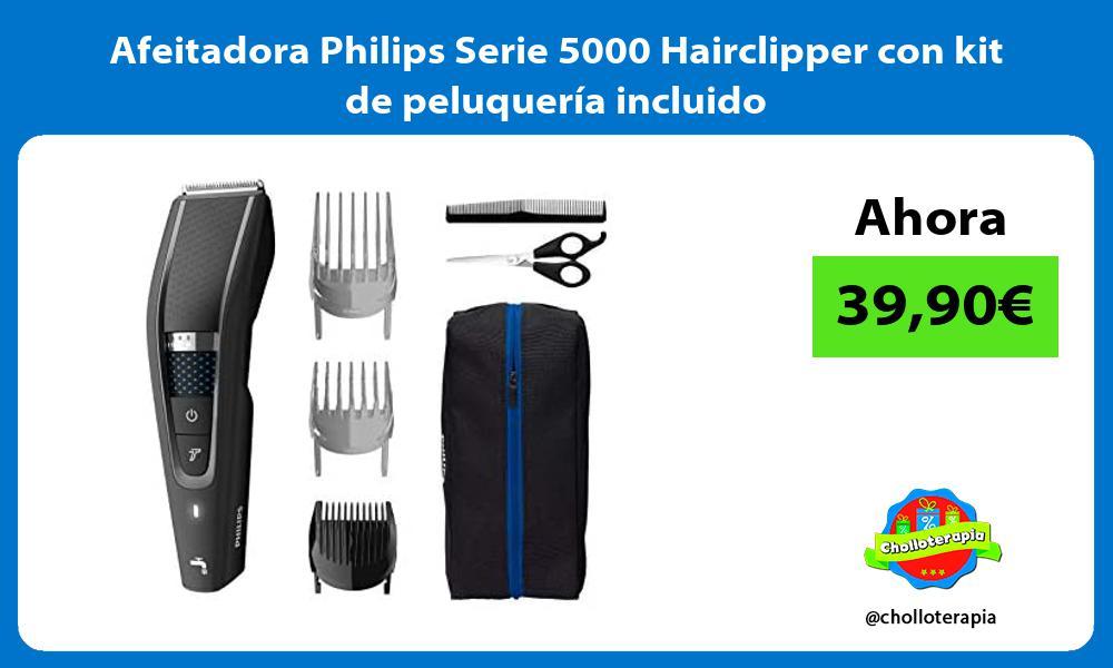Afeitadora Philips Serie 5000 Hairclipper con kit de peluquería incluido