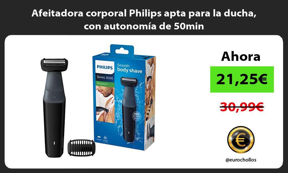 Afeitadora corporal Philips apta para la ducha con autonomía de 50min