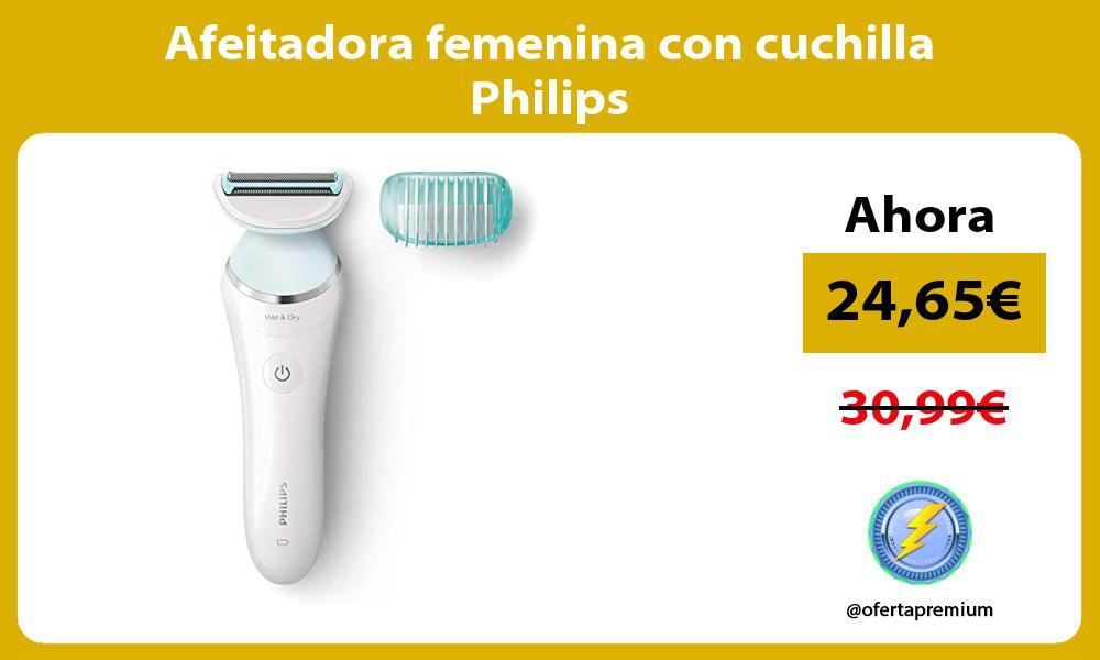 Afeitadora femenina con cuchilla Philips