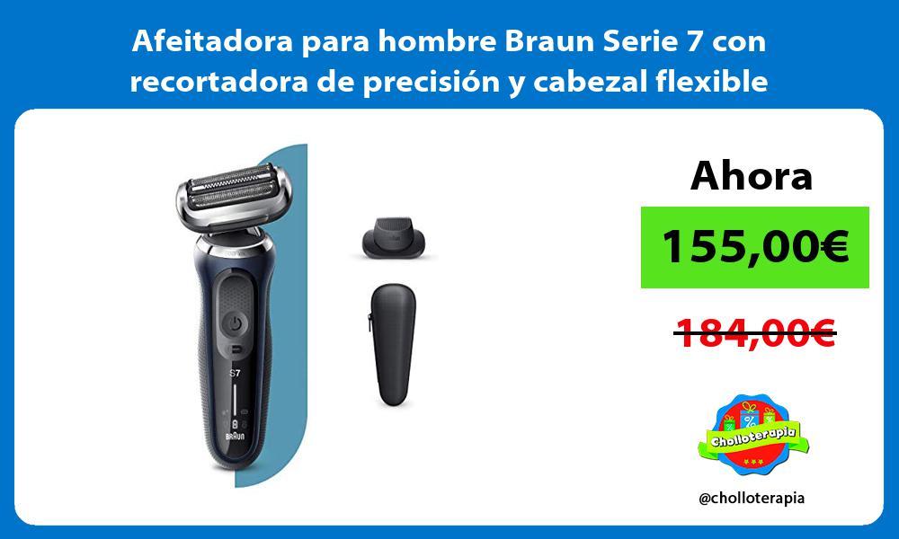 Afeitadora para hombre Braun Serie 7 con recortadora de precisión y cabezal flexible