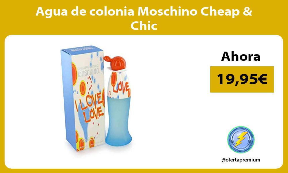 Agua de colonia Moschino Cheap Chic