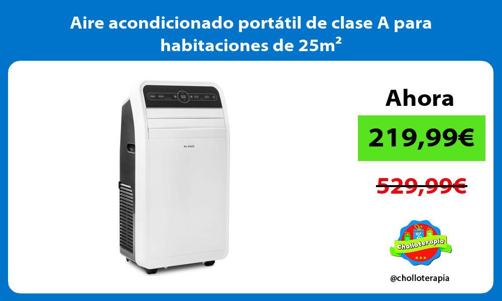 Aire acondicionado portátil de clase A para habitaciones de 25m²