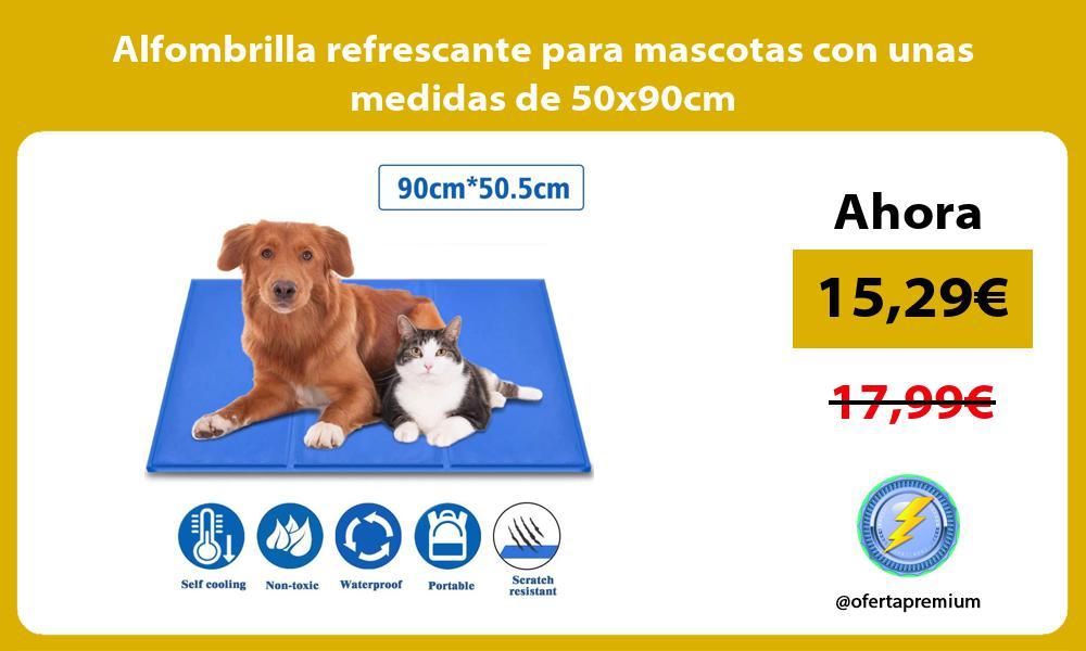 Alfombrilla refrescante para mascotas con unas medidas de 50x90cm