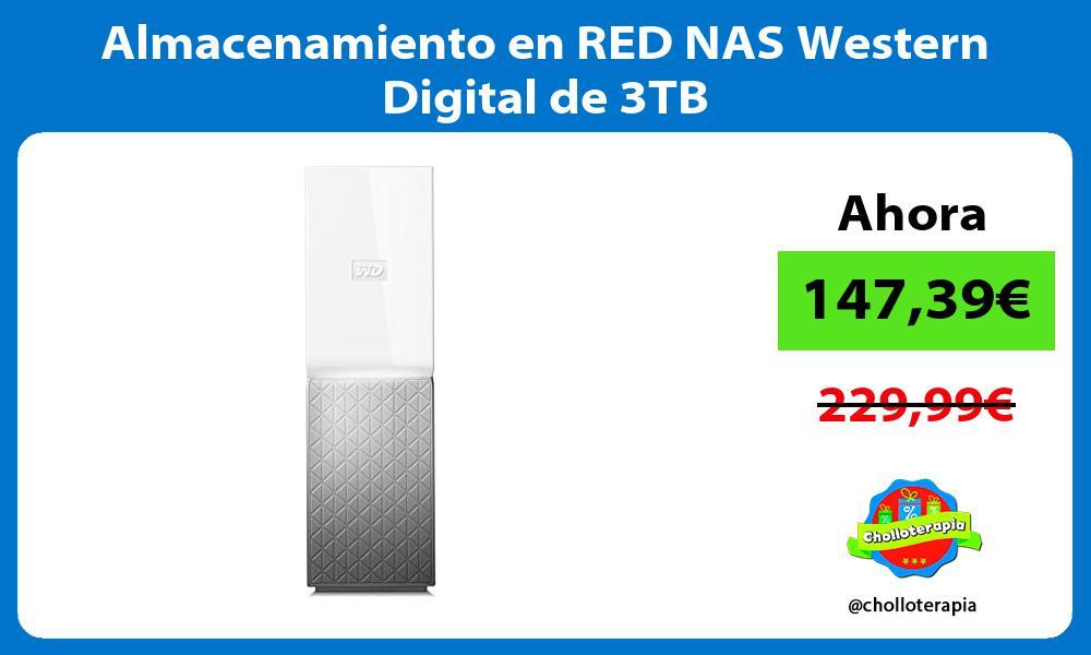 Almacenamiento en RED NAS Western Digital de 3TB