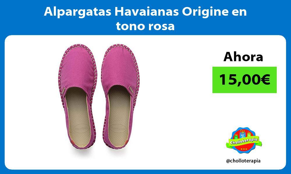 Alpargatas Havaianas Origine en tono rosa