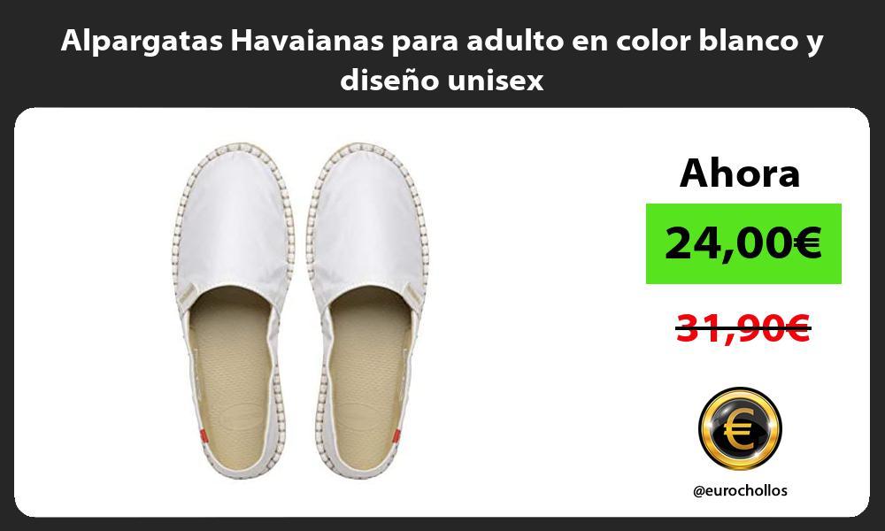 Alpargatas Havaianas para adulto en color blanco y diseño unisex