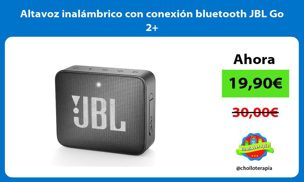 Altavoz inalámbrico con conexión bluetooth JBL Go 2