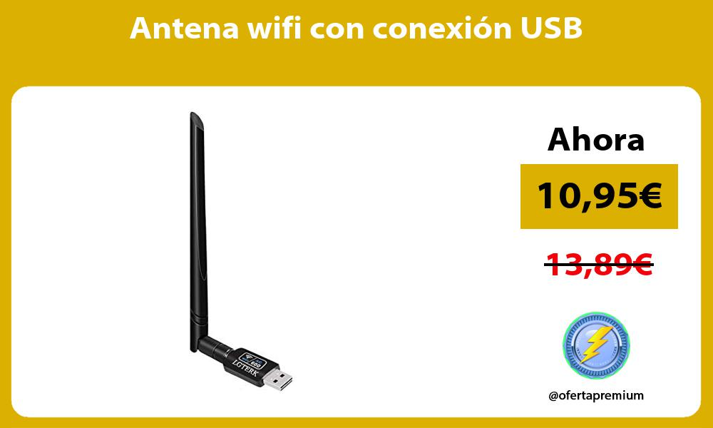 Antena wifi con conexión USB